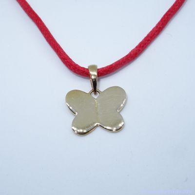 Pendentif personnalisé :  Le papillon plaqué or