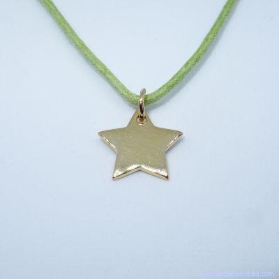 Pendentif personnalisé :  L'étoile plaqué or