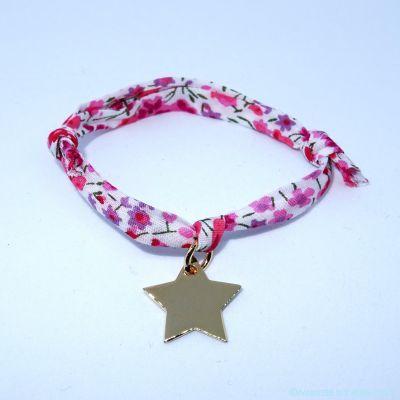 Bracelet petite étoile plaqué or sur Liberty