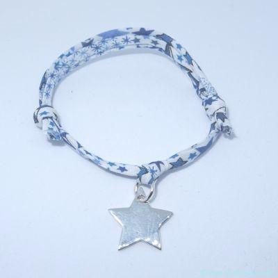 Bracelet petite étoile argent sur Liberty