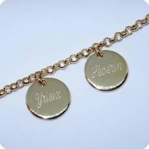 Bracelets personnalisés précieux plaqué or