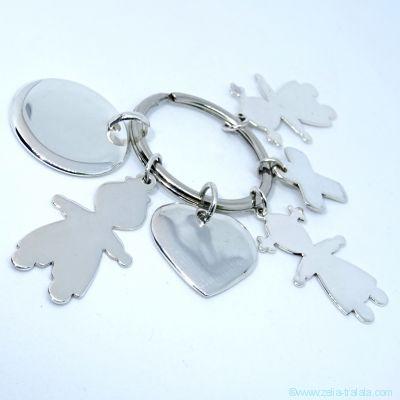 Le porte-clés personnalisé 6 breloques