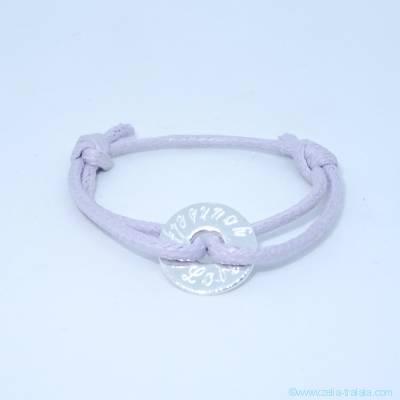 Bracelet personnalisé petite cible en argent