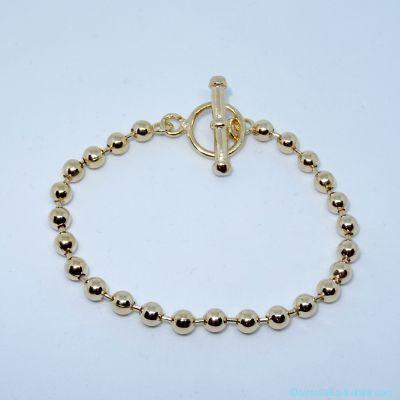 Bracelet seul, maille Jaseron fine, en plaqué or