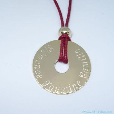 Pendentif personnalisé : La grande cible en plaqué or et sa perle