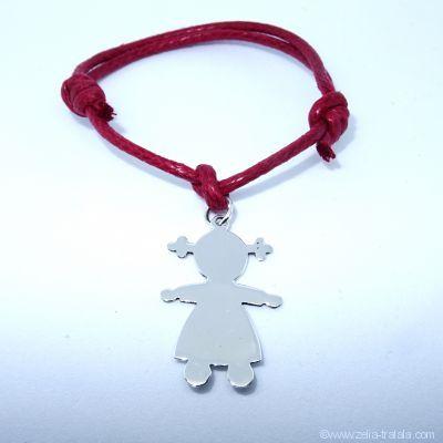 Bracelet personnalisé : bracelet petite fille en argent avec bélière