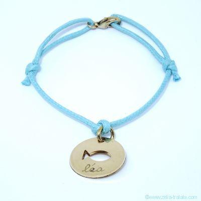 Bracelet personnalisé : bracelet poisson plaqué or