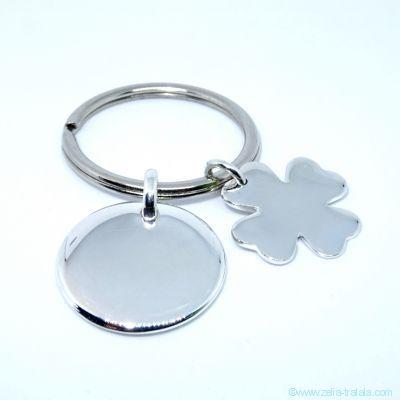 Le porte-clés personnalisé 2 breloques
