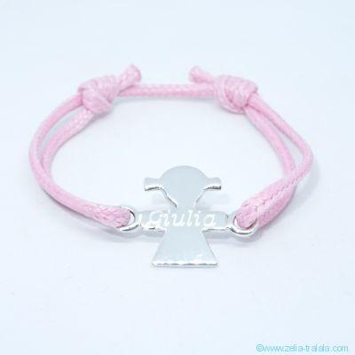 Bracelet personnalisé : bracelet petite fille en argent