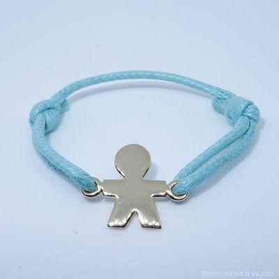 Bracelet personnalisé : bracelet petit garçon en plaqué or