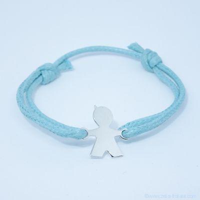 Bracelet personnalisé : bracelet petit garçon en argent