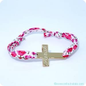 Les bracelets personnalisés catho plaqué or