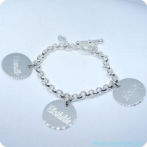 Bracelets personnalisés précieux argent