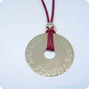 Les pendentifs personnalisés gravés en plaqué or