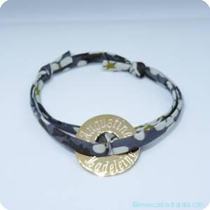 Les bracelets gravés en plaqué or