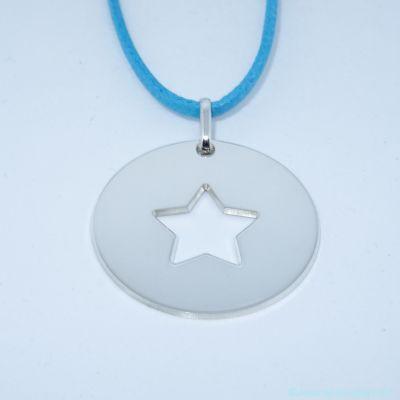 Grande médaille évidée d'une étoile en argent