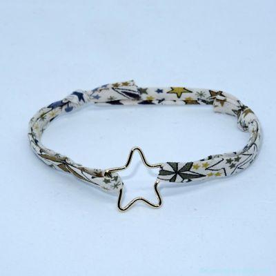 Bracelet étoile fil en plaqué or sur Liberty
