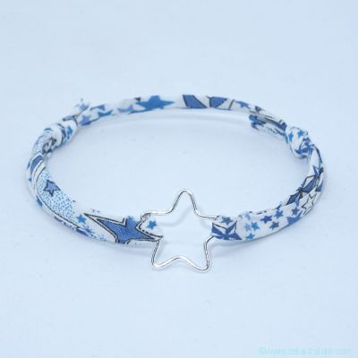 Bracelet étoile fil en argent  sur Liberty