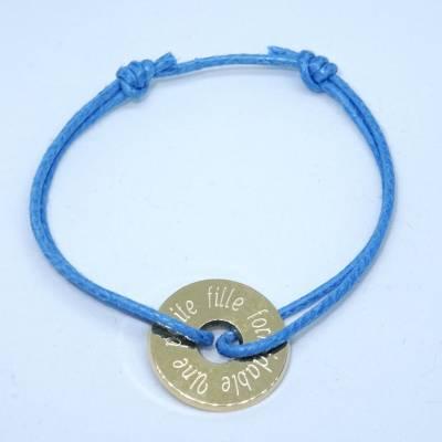Bracelet personnalisé petite cible en plaqué or