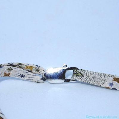 Les cordons en Liberty pour pendentif, avec fermoir en argent