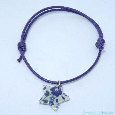 Bracelet breloque sur Liberty Fairford bleu