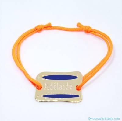 Bracelet personnalisé : La plaque de plage ou de square plaqué or