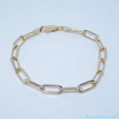 Bracelet maille large en plaqué or