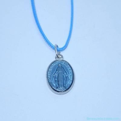 Pendentif médaille miraculeuse turquoise