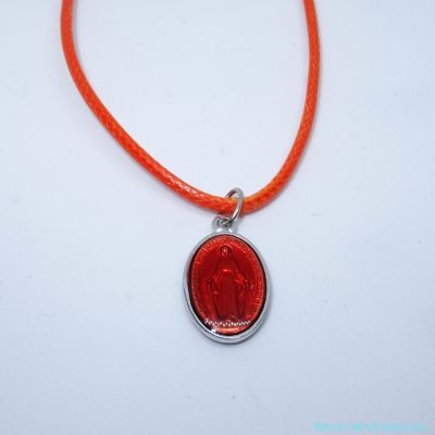 Pendentif médaille miraculeuse orange