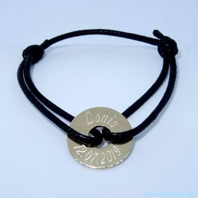 Bracelet personnalisé cible plaqué or
