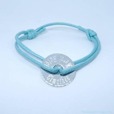 Bracelet personnalisé cible argent