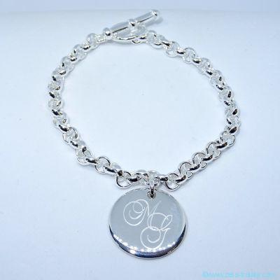 Bracelet personnalisé en argent une breloque