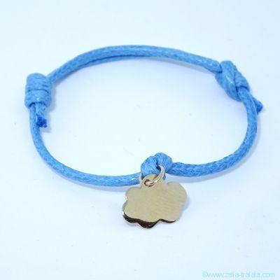 Bracelet personnalisé: le nuage en plaqué or