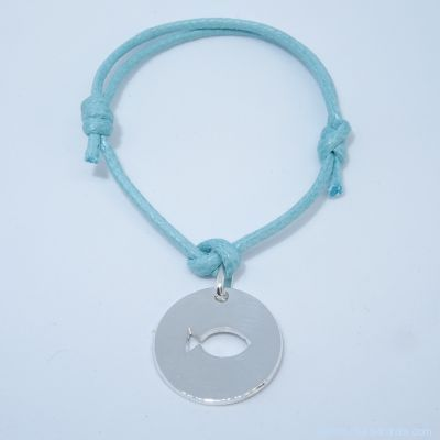 Bracelet personnalisé : bracelet poisson en argent