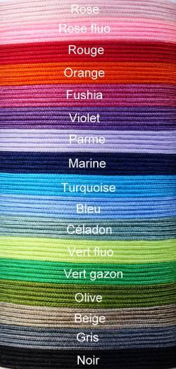 CORDONS satiné souple - 0,8 mm Choisissez et indiquez la couleur lors de votre commande parmi les 17 couleurs disponibles